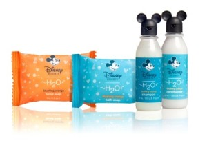 H2O Plus products offered to guests in-room at the Disney properties.  (Photo Credit Examiner.com)